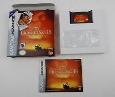 The Lion King 1 1/2 Nintendo Game Boy Advance Complete in Box Minty Box