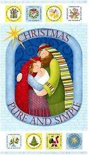 CHRISTMAS FABRIC BENARTEX NATIVITY FABRIC PURE & SIMPLE BY NANCY HALVORSEN NEW