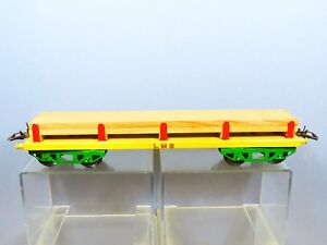 "VINTAGE ""O"" HORNBY MODEL No.2    TIMBER WAGON     ""YELLOW & GREEN VERSION"