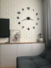 Wall Clock DIY 3D Modern Sticker Mirror Home Decor Large Room Decoration Art