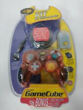 Mad Catz GameCube Starter Kit In Orange , controller , memory card & keeper new