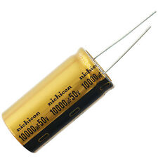 Nichicon UFW Audio Grade Electrolytic Capacitor, 10000uF @ 50V, 20% Tolerance