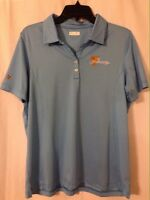Presidents Cup Logo Women's Blue Golf Shirt/Top By Oxford Golf. Large