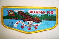 OA KU NI EH LODGE 145 DAN BEARD COUNCIL BSA SCOUT PATCH S-14 SERVICE FLAP