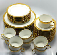 Ceralene Raynaud Limoges Ambassador Gold Encrusted 5 Piece Setting Service for 8