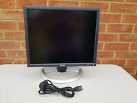 """Dell 19"""" inch Dell 1901FP 19"""" inch 1280 x 1024 Monitor. DVI, VGA D-SUB, Audio"""