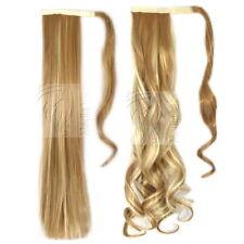 Haarteil Zopf Pferdeschwanz Haarverlängerung Haarverdichtung Glatt und Gewellt