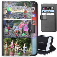 PERSONALISED LEATHER CASE CUSTOM PHOTO COVER FOR APPLE HUAWEI SAMSUNG SONY PHONE