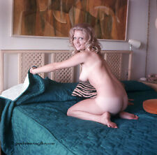 Bunny Yeager Pin-Up Color Transparency Beautiful Nude Blonde Model Boudoir Shoot