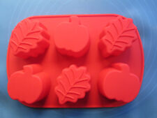 1pcs 6-Holes Pumpkin&Leaves Silicone Cake/Pudding/Jelly DIY Bakeware Mould