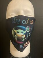 Baby Yoda , Stay Out Of My Bubble, Face Mask. Reversible & Washable