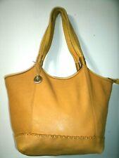 The Sak Lovely Large Yellow Pebbled Leather Hobo Shoulder Bag in EUC!