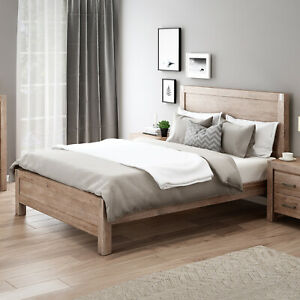 Queen Size Oak Bed Frame Solid Acacia Frames MDF Veneered Acacia Panels Nowra
