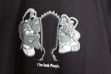 The Simpsons Bart I See Dumb People Graphic T Shirt 100% Cotton XL EUC