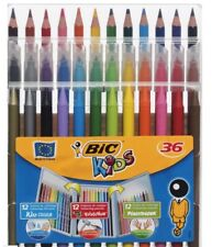 New BiC Kids 36 Assorted Pens Pencils and Crayons Colouring Set