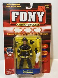 FDNY America's Bravest Jake Burned Engine man Figure. 😎⭐️