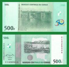 Congo P100, 500 Francs, Port of Matadi / Kinsuka Bridge - see UV image 2010 UNC
