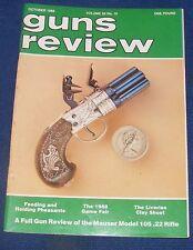 GUNS REVIEW MAGAZINE OCTOBER 1988 - MAUSER MODEL 105 .22 RIFLE