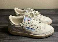 New Women Reebok Club C 85 Vintage Leather Chalk Classic Shoes Sneakers Size 8.5