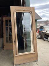 An 637 Antique All Beveled Glass Oak Entrance Door 39.75 X 90 X 1 7/8�
