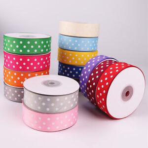 FP- BG_ GT- AU_ 25 Yards Dot Print Satin Ribbon Bow Packing Craft Wedding Party