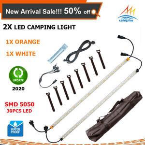 2X 12V Orange & White LED Camping Lights Kit Strip Bar Rigid Caravan Cabinet 4WD