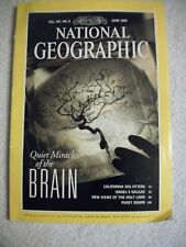 "National Geographic June 1995 ""Quiet Miracles Of The Brain"" Magazine - Vol.187,"