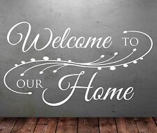 Welcome To Our Home Wall Sticker Art Vinyl Decal Transfer Lounge Hall Dining T43