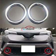 For Toyota C-HR CHR 2016 2017 Car Front Fog Light Trim Lamp Ring Cover 2PCS