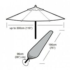 Garland Deluxe Large Parasol Garden Furniture Cover W1448