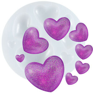Hearts Dome Gemstone Pastry Silicone Mould