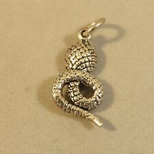 .925 Sterling Silver Small Detailed COBRA SNAKE Pendant NEW Animal 925 PM18