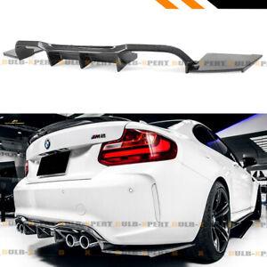 FOR 2017-2020 BMW F87 M2 CARBON FIBER REAR BUMPER DIFFUSER 3PC DESIGN MTC STYLE