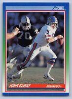 1990  JOHN ELWAY - SCORE Football Card # 25 - DENVER BRONCOS HOF QB