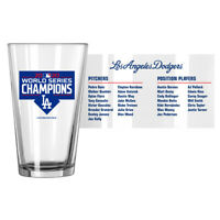 Los Angeles Dodgers 2020 World Series Champions Roster Pint Glass