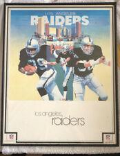 More details for vintage 1980s nfl. los angeles raiders poster. framed