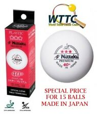 Nittaku JAPAN 40+ Premium Three Stars Table Tennis Balls 15PCS (MADE IN JAPAN)