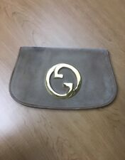 Gucci Tan Suede Clutch Purse