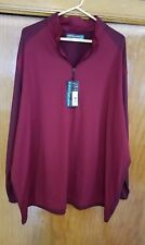 Mens Roundtree And Yorke Performance 1/4 Zip Nwt Size 4Xt