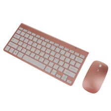 AckfulWireless Keyboard Mouse Mini Candy Colored Frosted Round Punk Wireless Keyboard and Mouse Combo