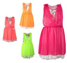 Short Length Polyester Summer Dresses (2-16 Years) for Girls