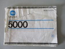 MANUEL NOTICE MODE D'EMPLOI  MINOLTA 5000 FRANCAIS