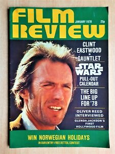 Film Review Magazine January 1978 Star Wars Calendar Clint Eastwood Oliver Reed