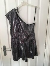 topshop Size 14 silver Playsuit Used