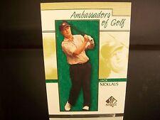 Rare Jack Nicklaus Upper Deck SP Authentic 2001 Card #131 Golf