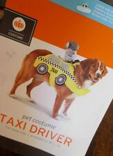 Dog TAXI DRIVER Costume L NEW Pet DOG IS TAXI CAB Plush Animal Drives! LARGE