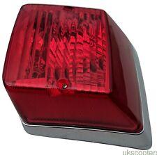 ukscooters VESPA PX REAR LIGHT CHROME BACK LIGHT TAIL LAMP