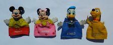 Vintage Rare Walt Disney Donald Duck Mickey Minnie Pluto Finger Puppet Set
