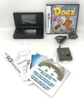 Nintendo DS Lite Black Console With Charger & 1 Game Great Condition