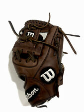 "Wilson A950 Adult Leather Baseball Glove New 11.5"" Broken In Ready Infield Brown"